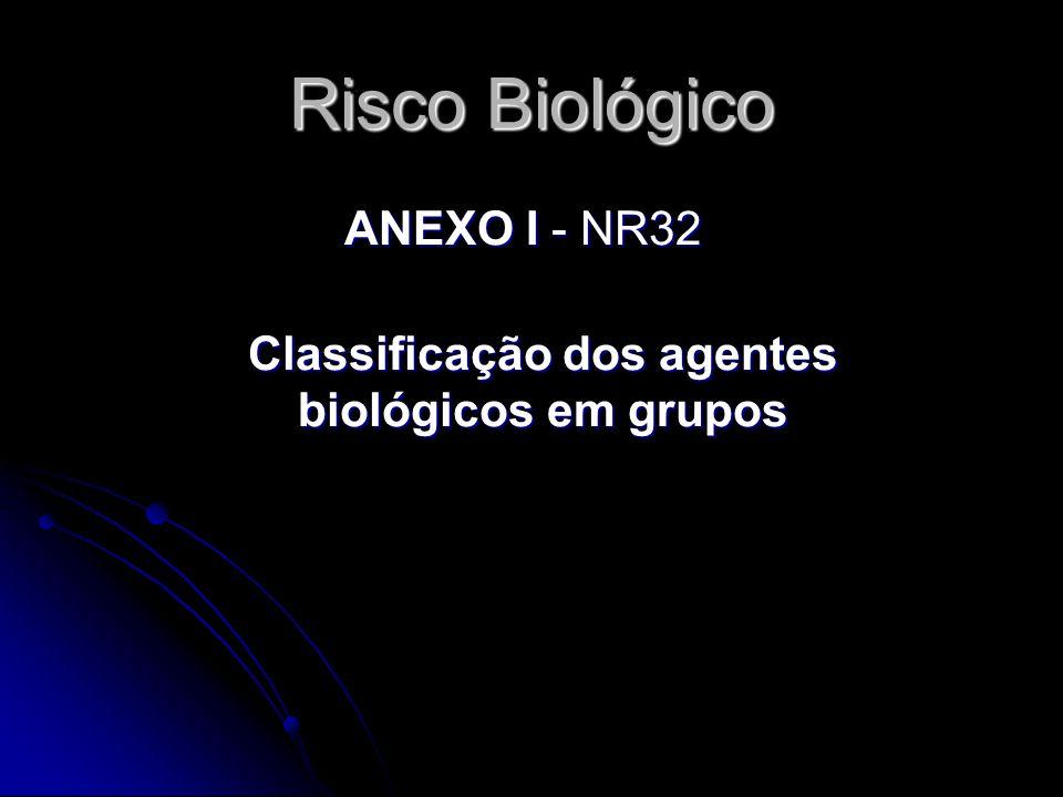 Classificação dos agentes biológicos em grupos