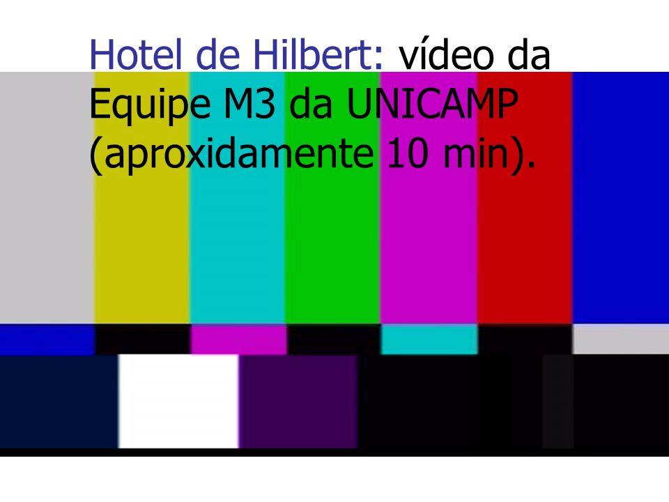 Hotel de Hilbert: vídeo da Equipe M3 da UNICAMP (aproxidamente 10 min).