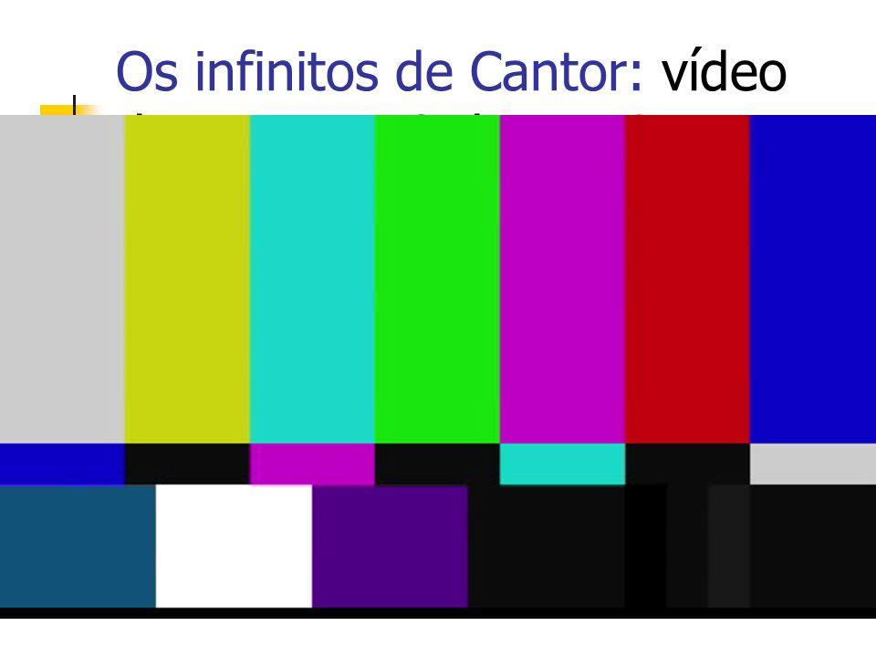 Os infinitos de Cantor: vídeo da Equipe M3 da UNICAMP (aproxidamente 14 min).