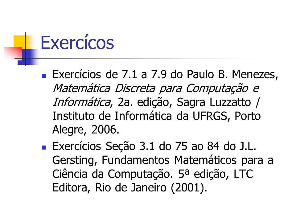 Exercícos