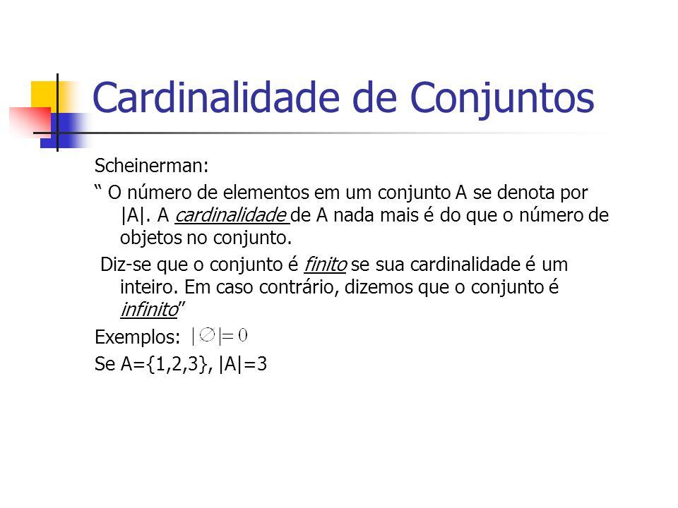 Cardinalidade de Conjuntos