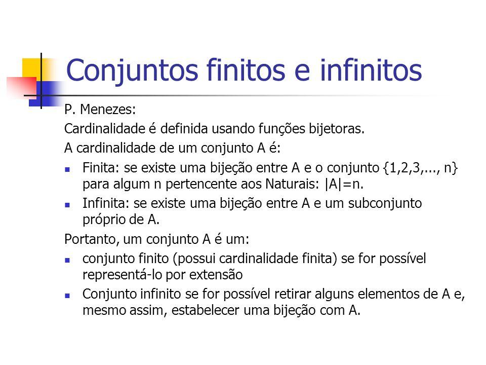 Conjuntos finitos e infinitos