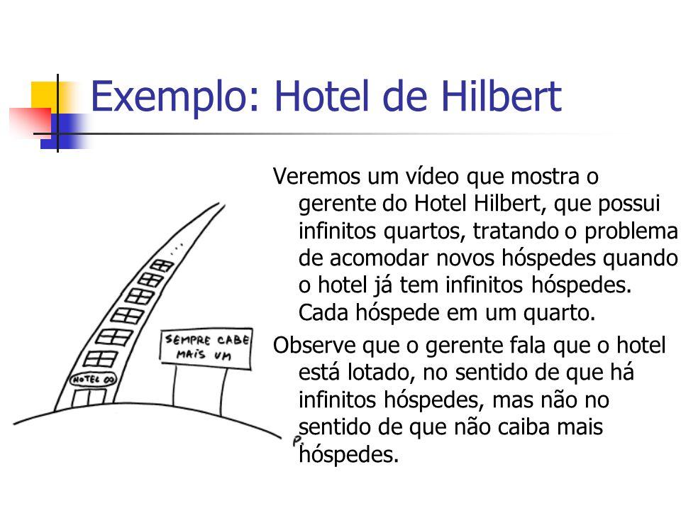 Exemplo: Hotel de Hilbert