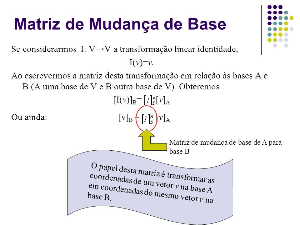 Matriz de Mudança de Base