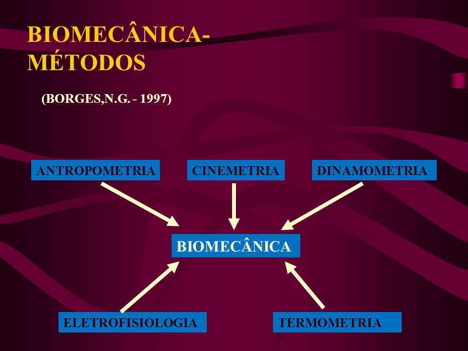 BIOMECÂNICA-MÉTODOS BIOMECÂNICA (BORGES,N.G. - 1997) ANTROPOMETRIA