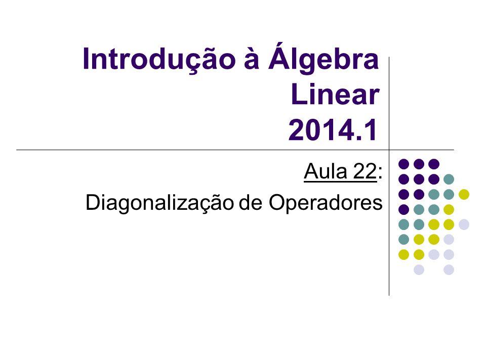 Introdução à Álgebra Linear 2014.1