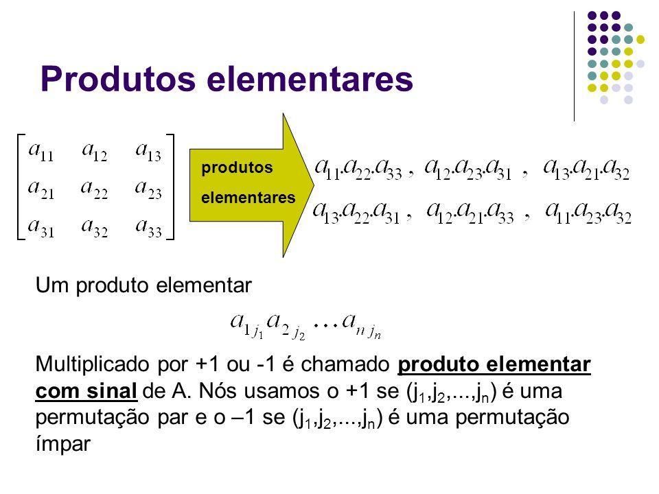 Produtos elementares Um produto elementar