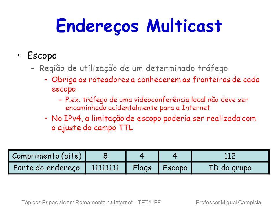 Endereços Multicast Escopo