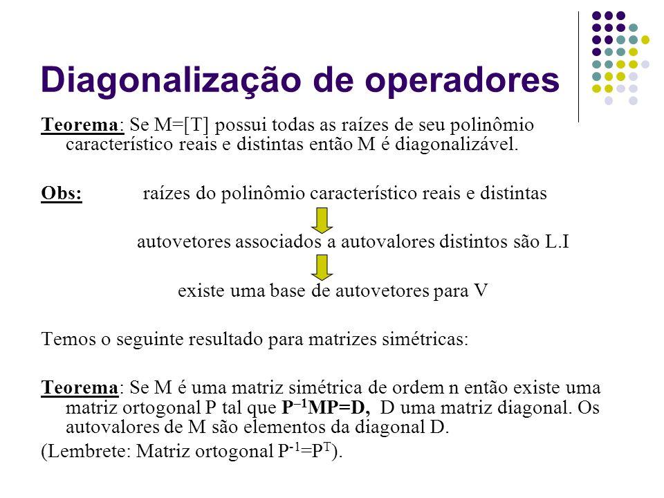 Diagonalização de operadores