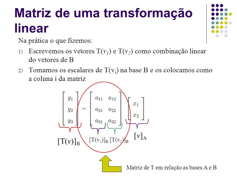 Matriz de uma transformação linear