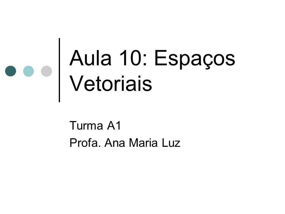 Aula 10: Espaços Vetoriais