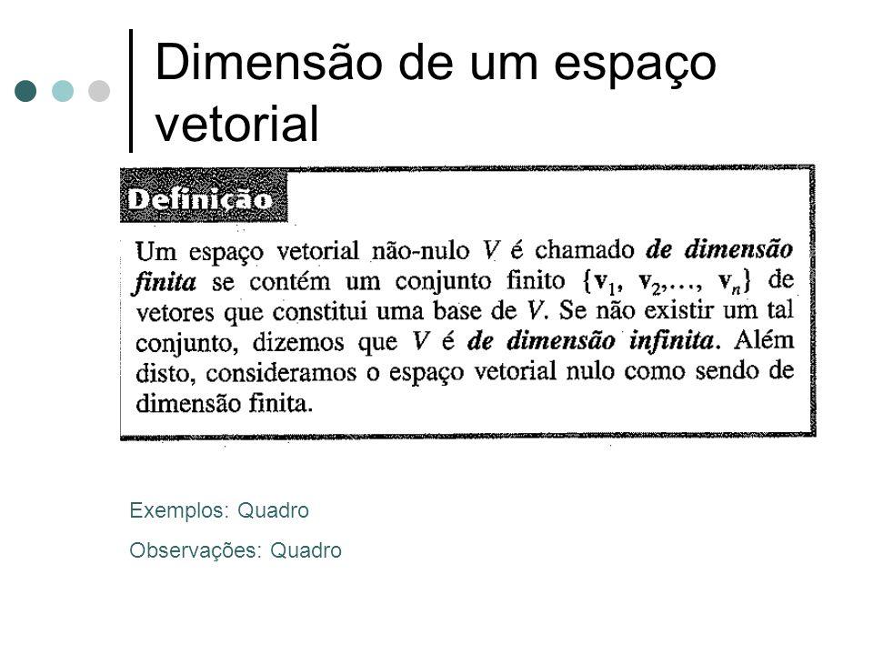 Dimensão de um espaço vetorial