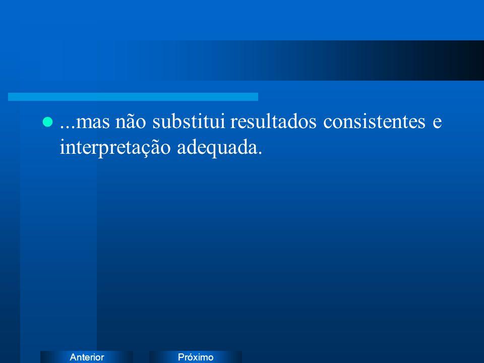 ...mas não substitui resultados consistentes e interpretação adequada.