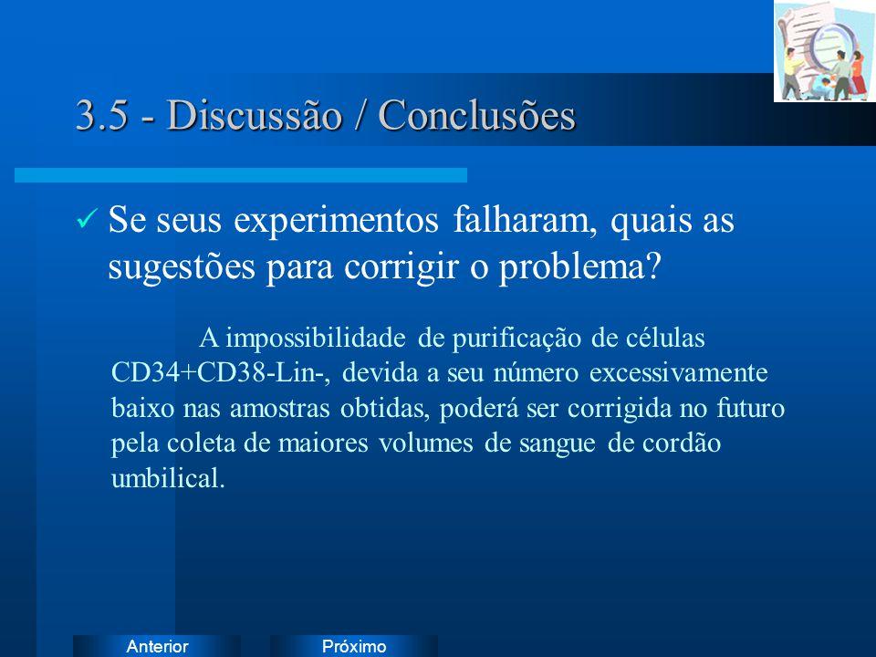 3.5 - Discussão / Conclusões