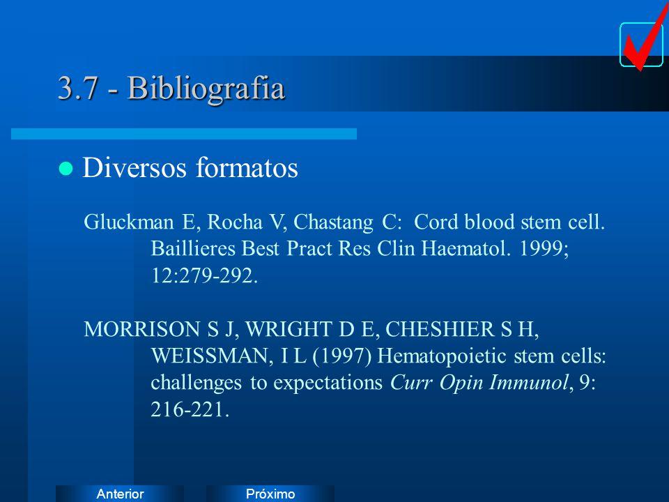 3.7 - Bibliografia Diversos formatos