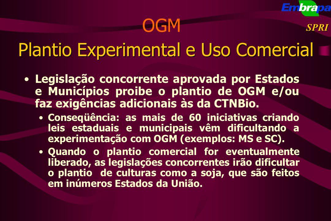 Plantio Experimental e Uso Comercial