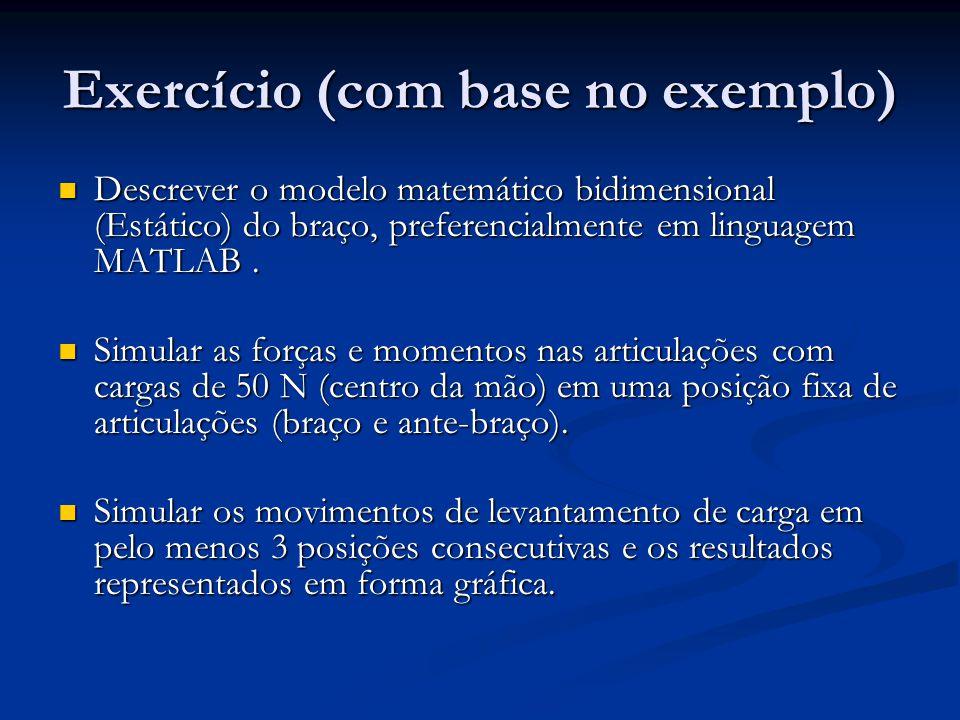 Exercício (com base no exemplo)