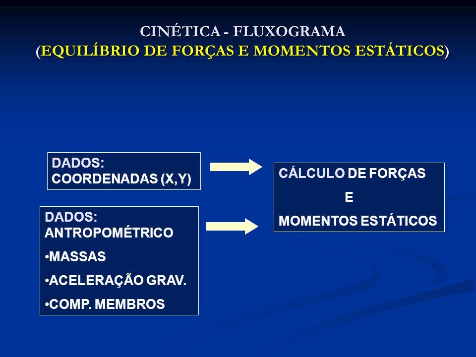 CINÉTICA - FLUXOGRAMA (EQUILÍBRIO DE FORÇAS E MOMENTOS ESTÁTICOS)
