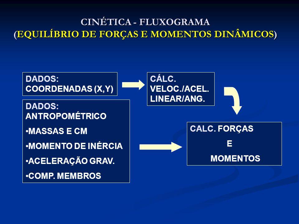 CINÉTICA - FLUXOGRAMA (EQUILÍBRIO DE FORÇAS E MOMENTOS DINÂMICOS)