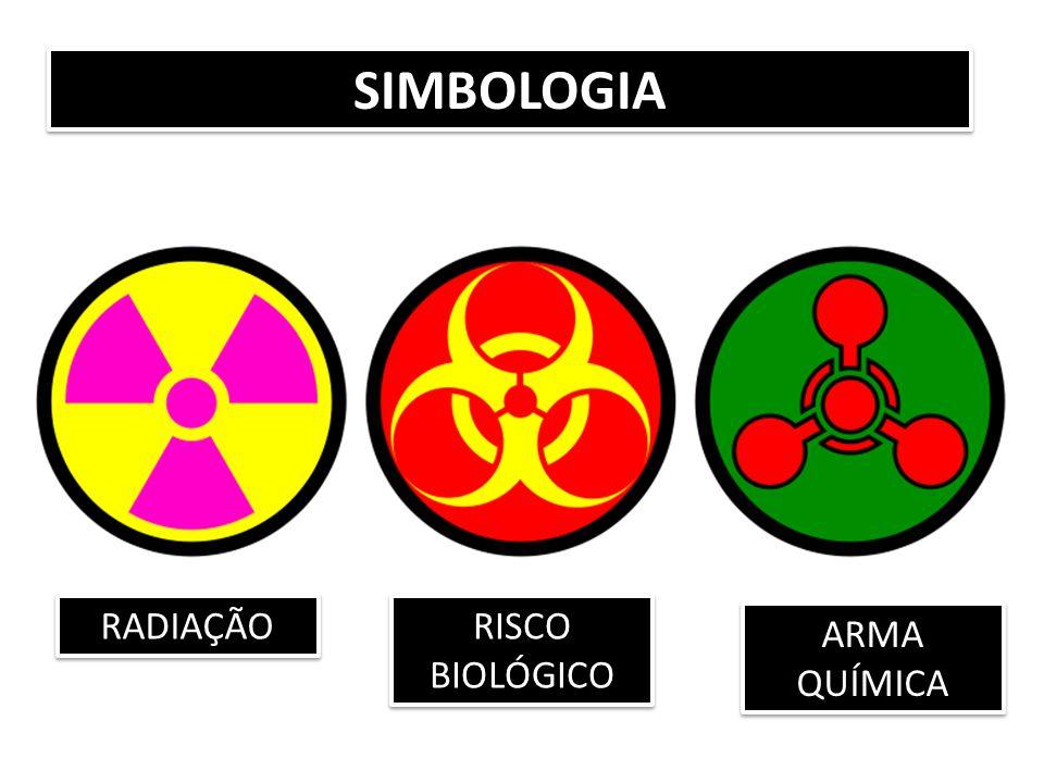 SIMBOLOGIA RADIAÇÃO RISCO BIOLÓGICO ARMA QUÍMICA