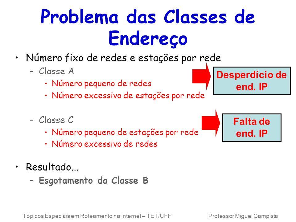 Problema das Classes de Endereço