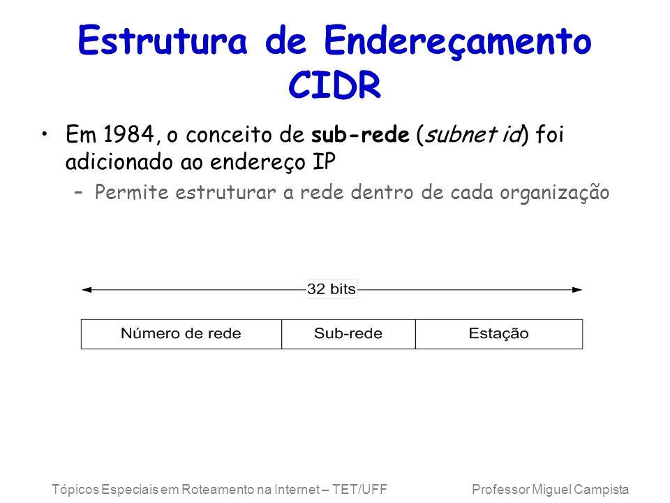 Estrutura de Endereçamento CIDR