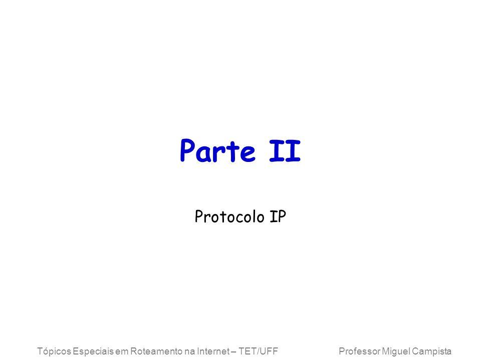 Parte II Protocolo IP.
