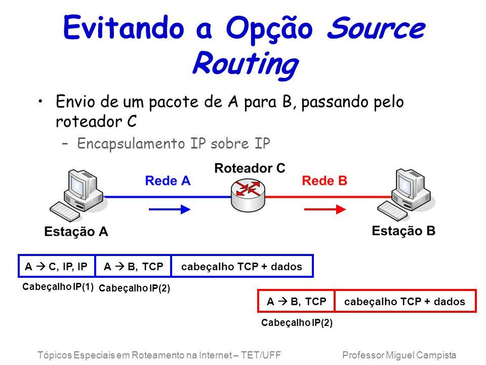 Evitando a Opção Source Routing