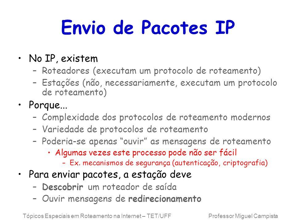 Envio de Pacotes IP No IP, existem Porque...