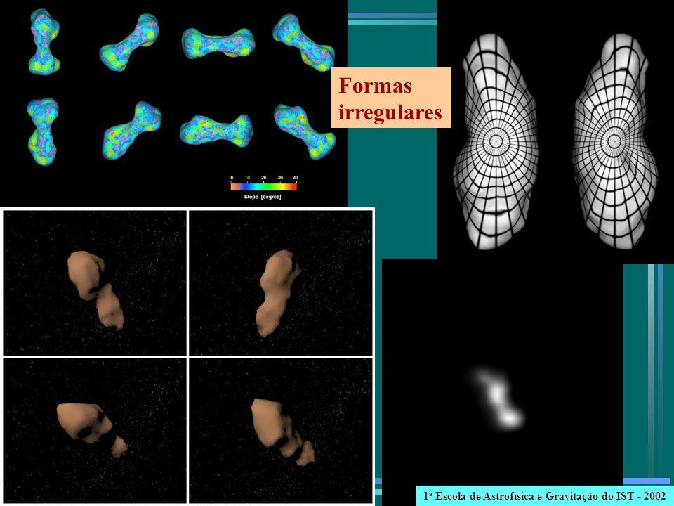 Formas irregulares 1a Escola de Astrofísica e Gravitação do IST - 2002