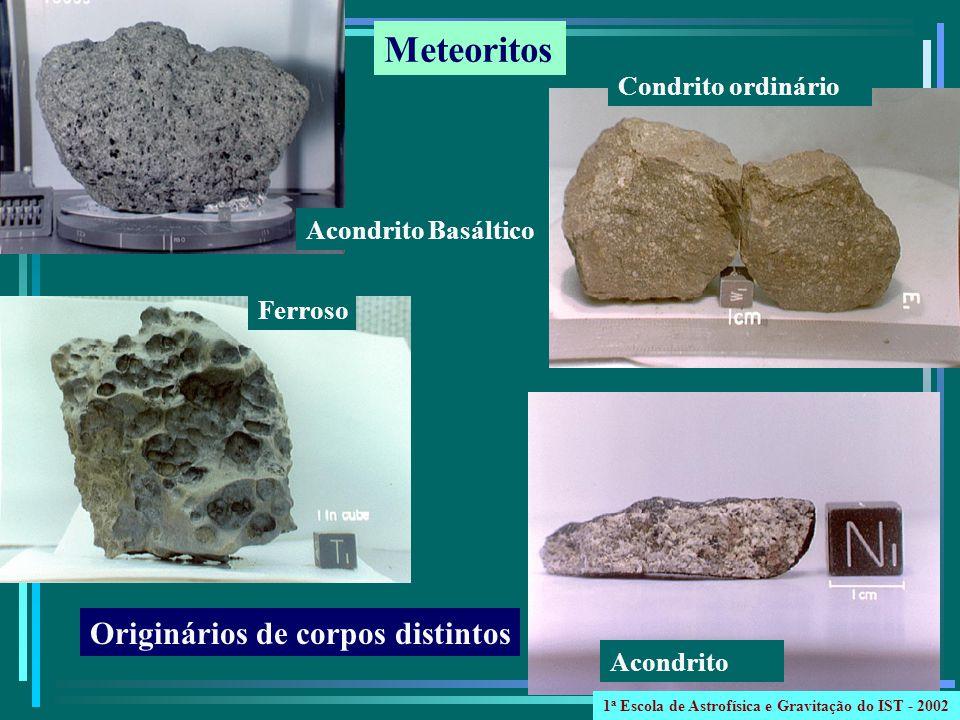 Meteoritos Originários de corpos distintos Condrito ordinário