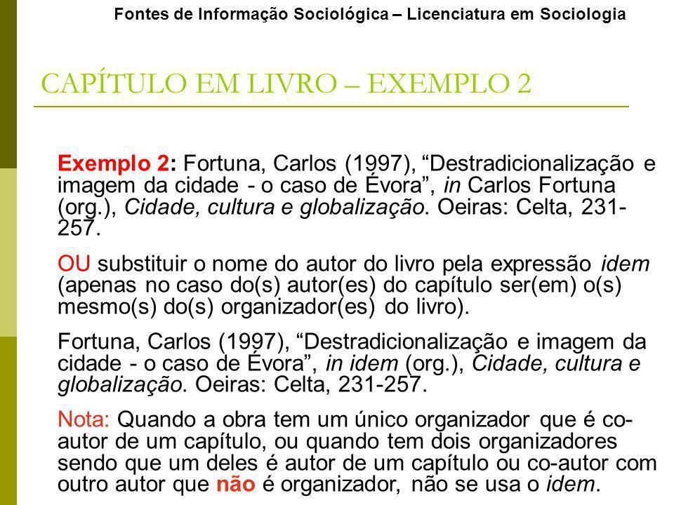 CAPÍTULO EM LIVRO – EXEMPLO 2