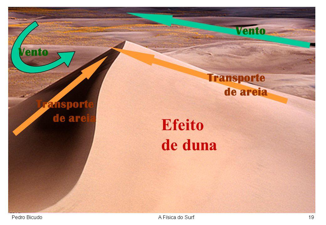 Efeito de duna Vento Vento Transporte de areia Transporte de areia