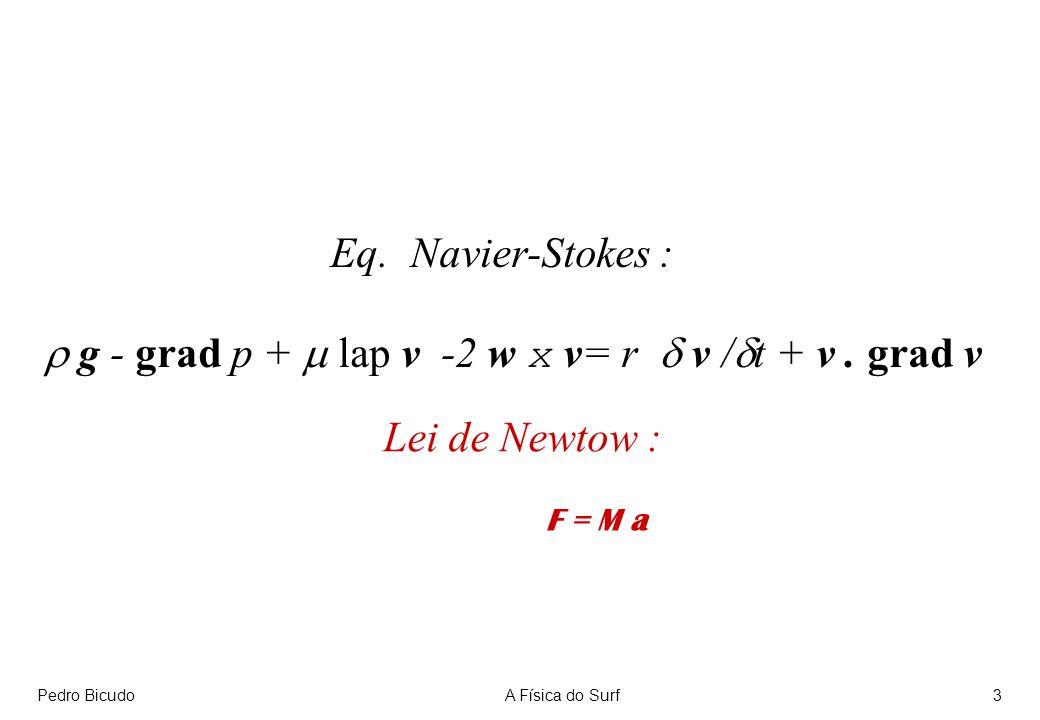 r g - grad p + m lap v -2 w x v= r d v /dt + v . grad v