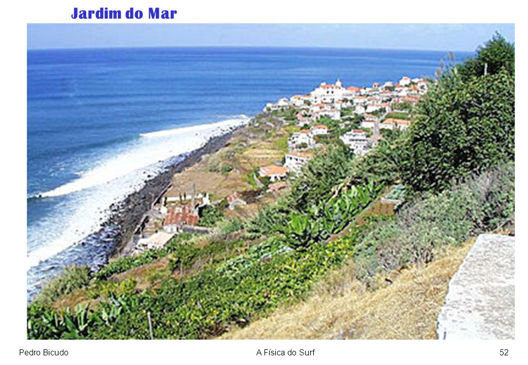 Jardim do Mar Pedro Bicudo A Física do Surf