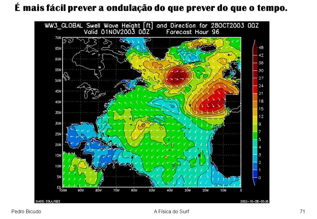 É mais fácil prever a ondulação do que prever do que o tempo.
