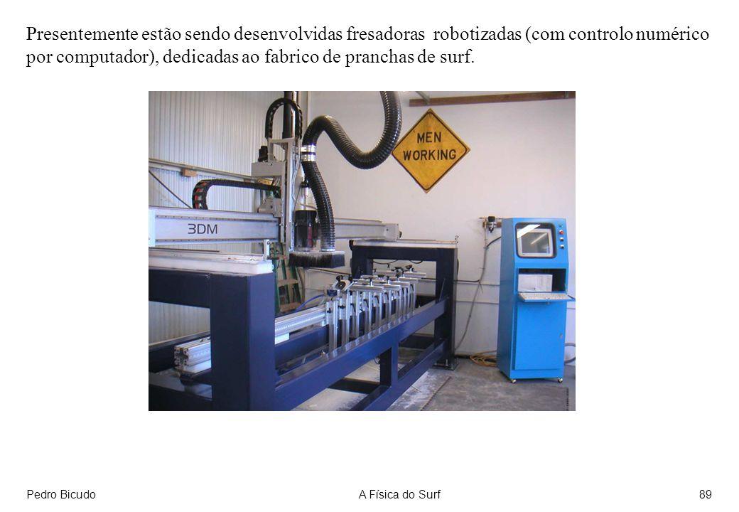 Presentemente estão sendo desenvolvidas fresadoras robotizadas (com controlo numérico por computador), dedicadas ao fabrico de pranchas de surf.