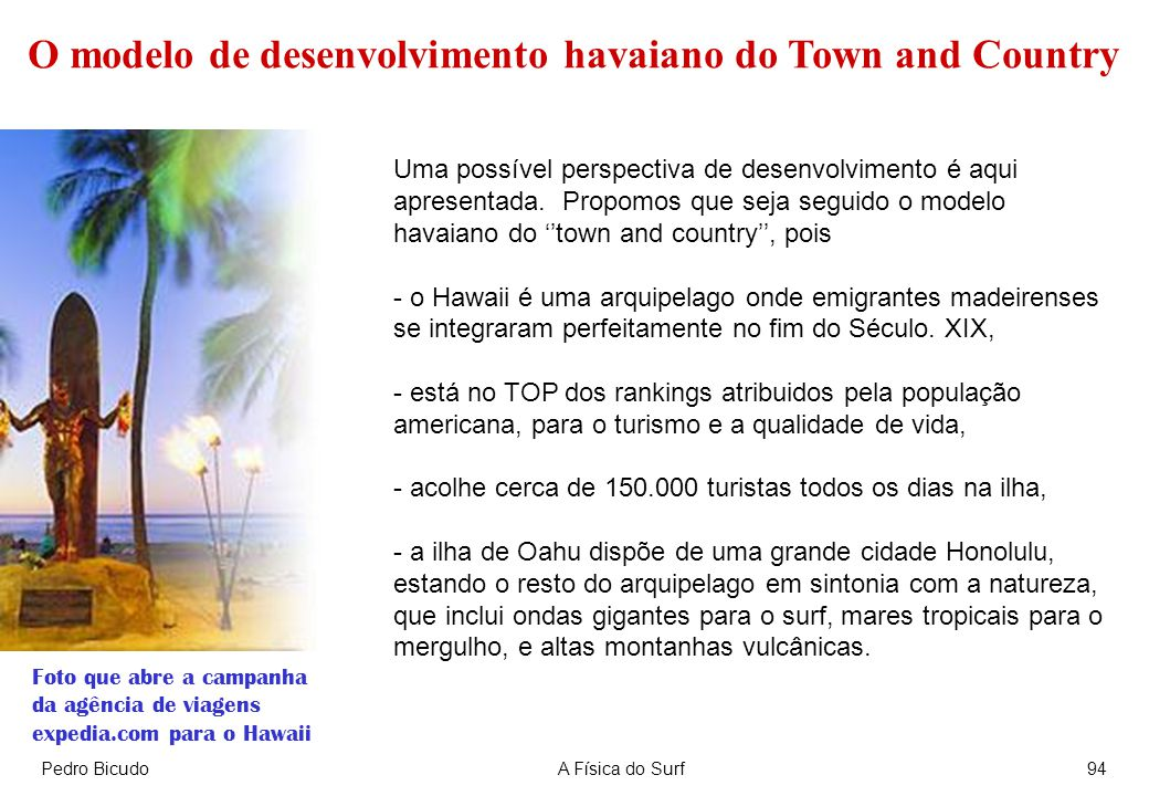 O modelo de desenvolvimento havaiano do Town and Country