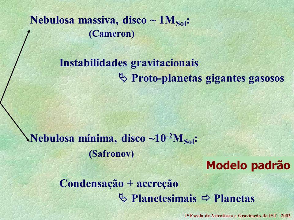 Nebulosa massiva, disco ~ 1MSol: