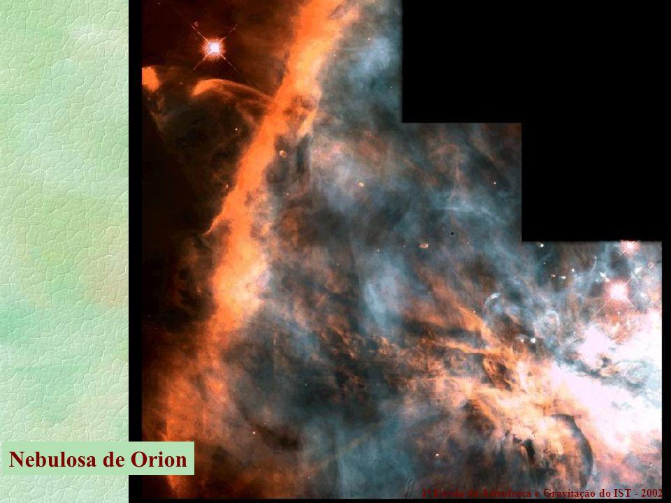 Nebulosa de Orion 1a Escola de Astrofísica e Gravitação do IST - 2002