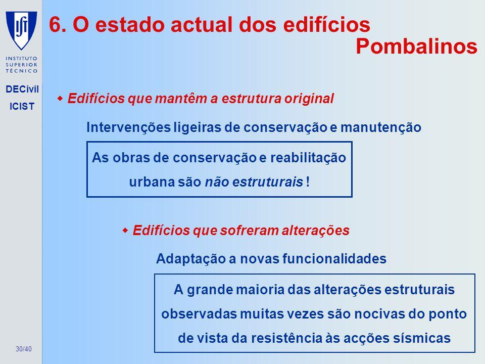 As obras de conservação e reabilitação urbana são não estruturais !