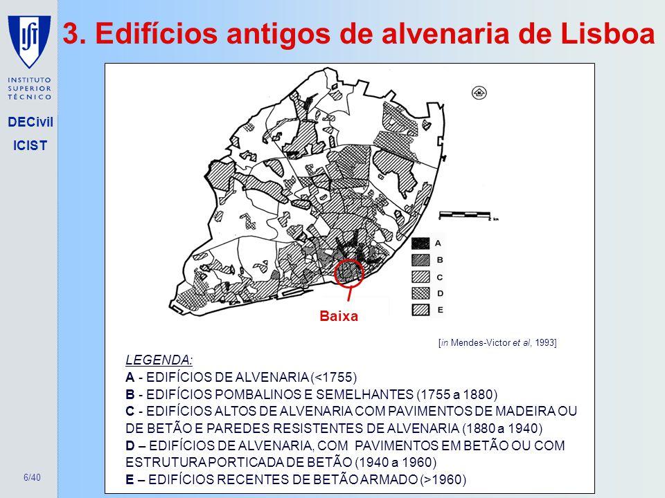 3. Edifícios antigos de alvenaria de Lisboa
