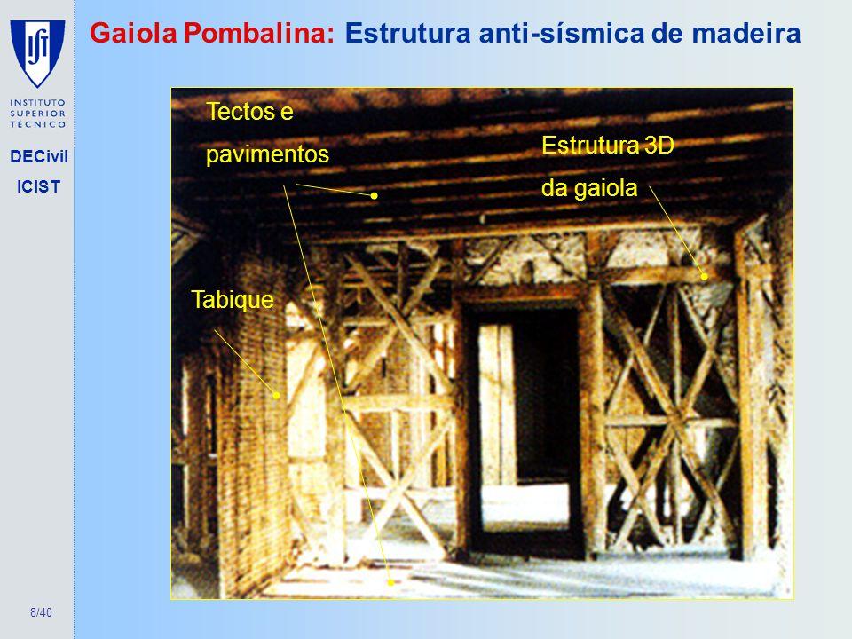 Gaiola Pombalina: Estrutura anti-sísmica de madeira