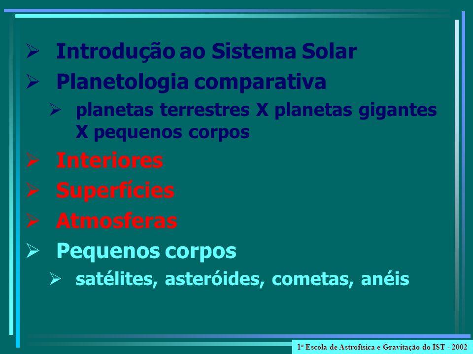 Introdução ao Sistema Solar Planetologia comparativa