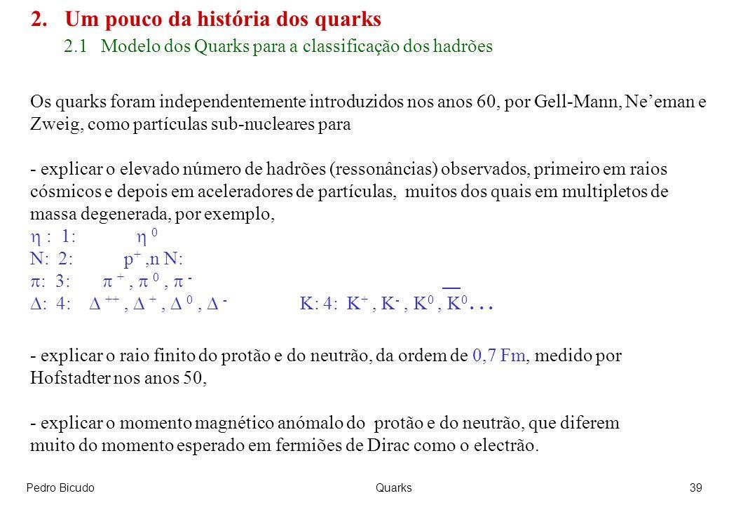 2. Um pouco da história dos quarks