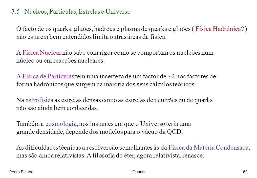 3.5 Núcleos, Partículas, Estrelas e Universo