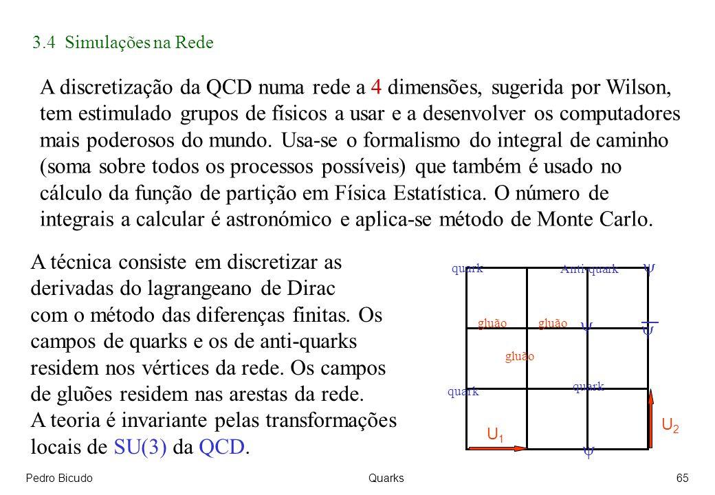 A discretização da QCD numa rede a 4 dimensões, sugerida por Wilson,