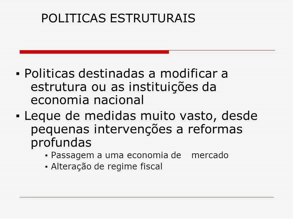 POLITICAS ESTRUTURAIS