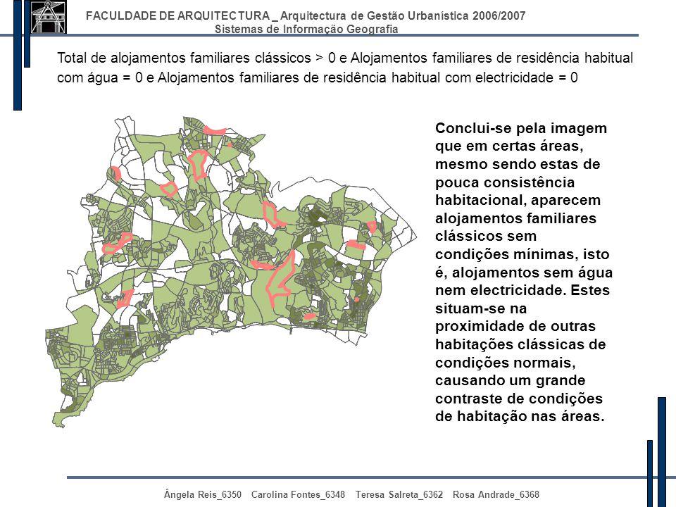 FACULDADE DE ARQUITECTURA _ Arquitectura de Gestão Urbanística 2006/2007 Sistemas de Informação Geografia