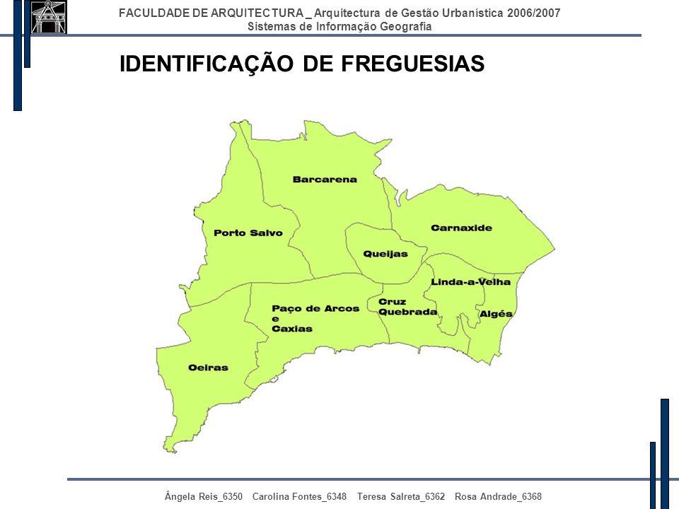 IDENTIFICAÇÃO DE FREGUESIAS